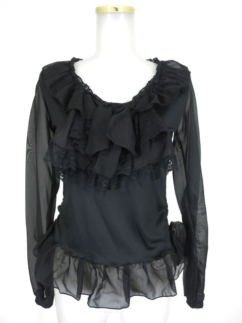 MR corset 袖シースルーカットソー