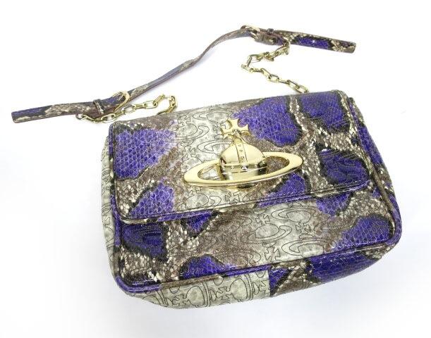 Vivienne Westwood パイソンエナメルショルダーバッグ