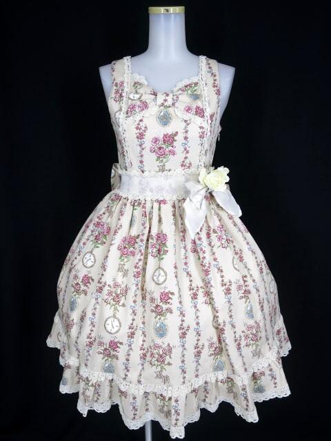 ALICE and the PIRATES 薔薇の時間柄ジャンパースカート1型