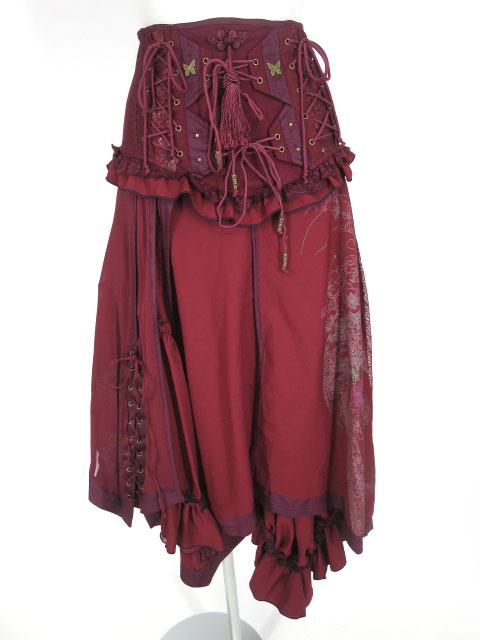 OZZ ONESTE 編み上げ付き2wayロングスカート