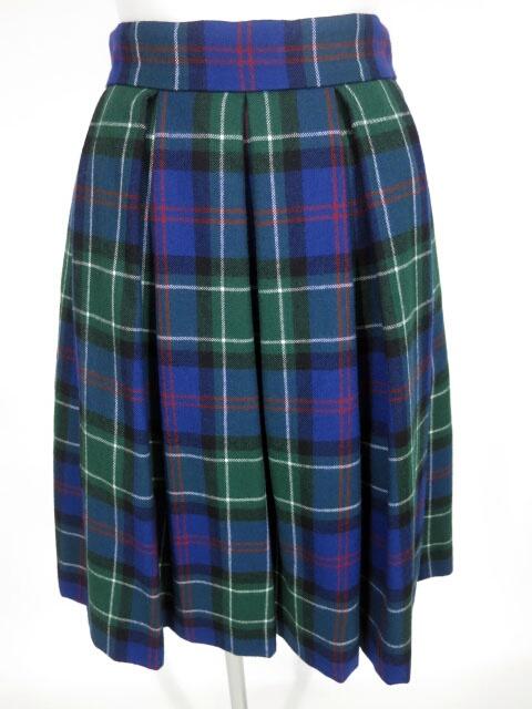Jane Marple タータンチェック バックフリルスカート