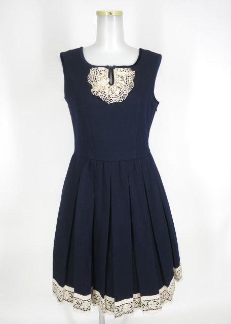 Jane Marple ウールプリーツジャンパースカート