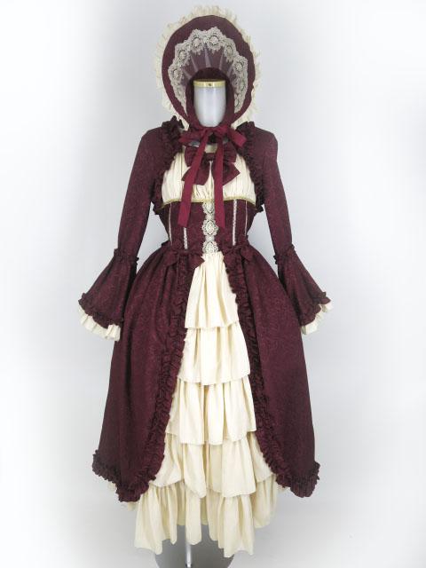 Henrietta Victorian Dollワンピース+ボンネット