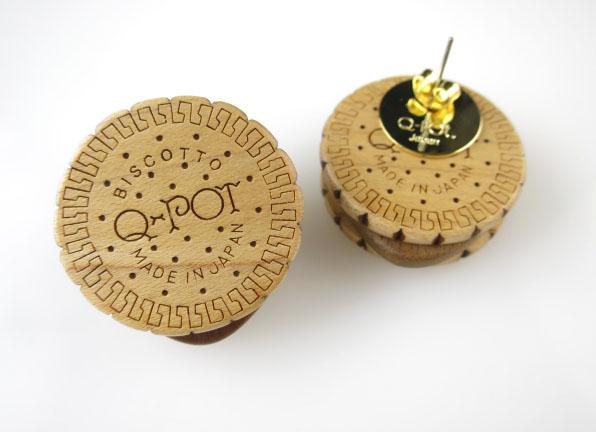 Q-pot. ラウンドチョコビスケットピアス