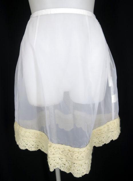 Jane Marple 裾ニット付きオーガンジーパニエ