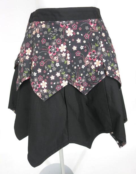 gouk雅 和柄レイヤードスカート
