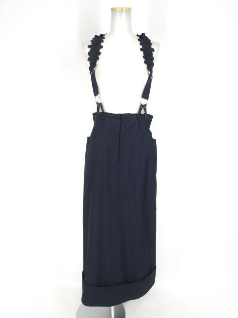 Jane Marple フラワーモチーフサスペンダー付きロングスカート