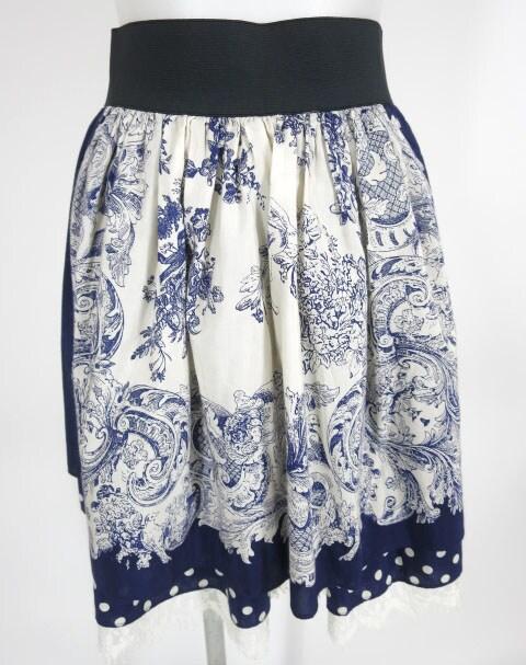 Jane Marple トワル柄スカート