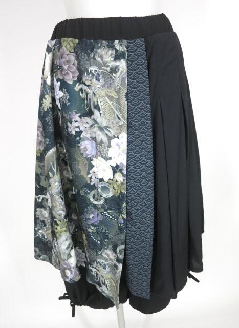 Qutie Frash スカート重ね八分丈ワイドパンツ