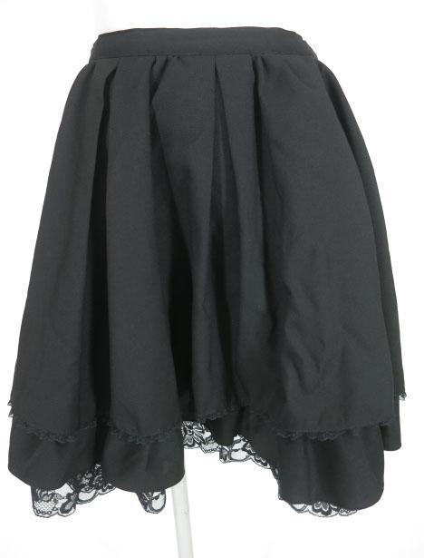 MIHO MATSUDA 裾レース付きスカート
