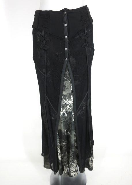Ozz Croce 龍総柄レイヤードロングスカート