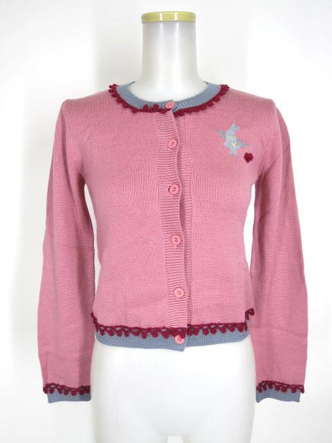 Shirley Temple トランプウサギ刺繍カーディガン