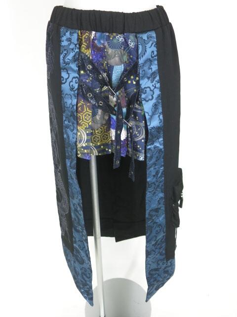 Qutie Frash 和柄プリーツレイヤードスカート