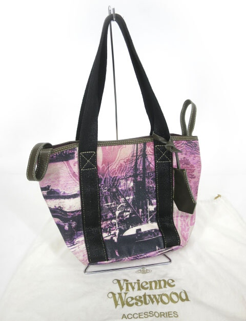 Vivienne Westwood 総柄キャンバストートバッグ