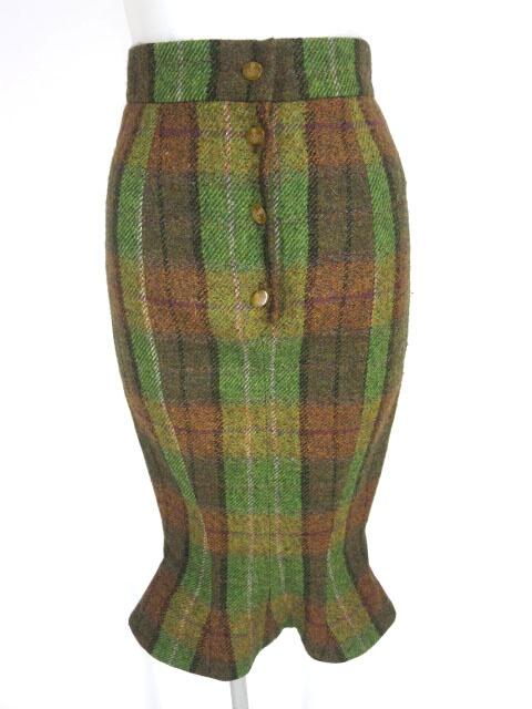 Vivienne Westwood RED LABEL ウールタータンチェックマーメイドスカート