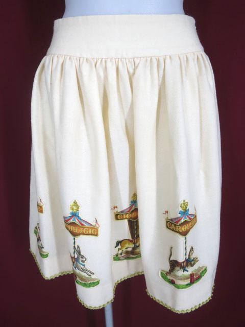 Jane Marple カルーセルのデコパージュスカート