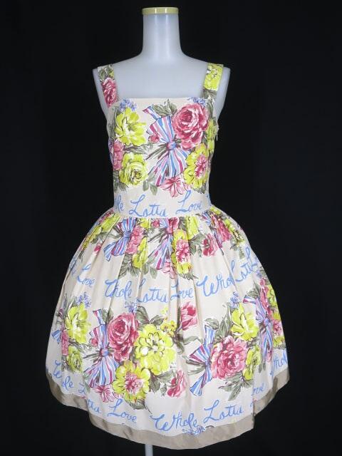 Jane Marple Beautiful Bouquetのストラップドレス