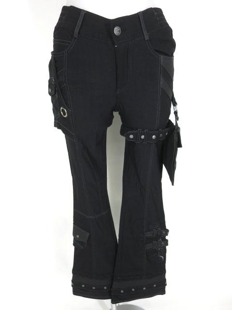 ozz conte レッグポケット付きブーツカットパンツ