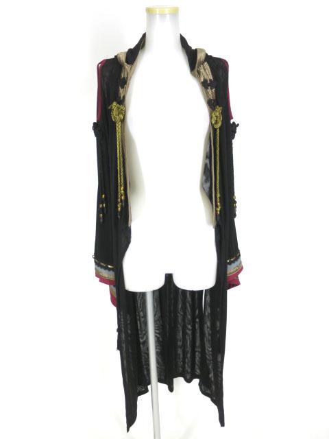 OZZ ONESTE フード付きメッシュチュール着物ロングカーディガン
