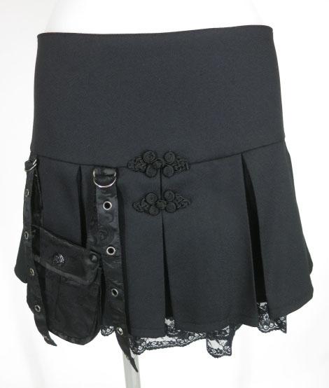 Qutie Frash ポケット付きプリーツミニスカート