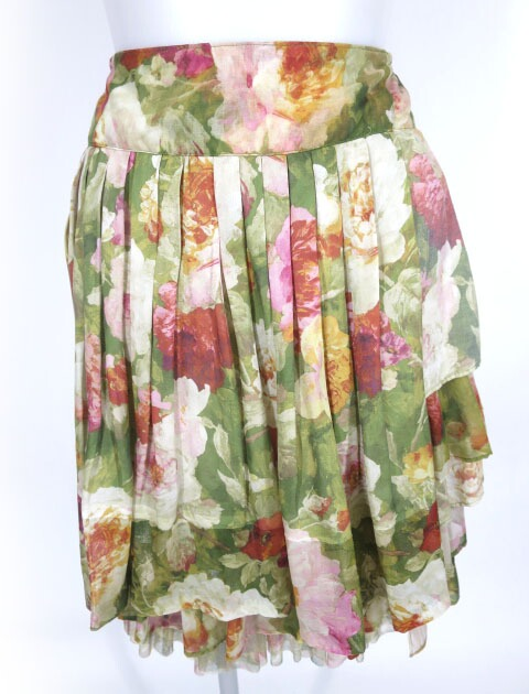 Jane Marple Dans Le Salon ローズ柄フリルスカート