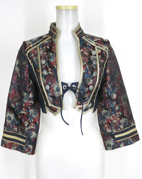 OZZ ONESTE ジャガード織りナポレオンボレロジャケット