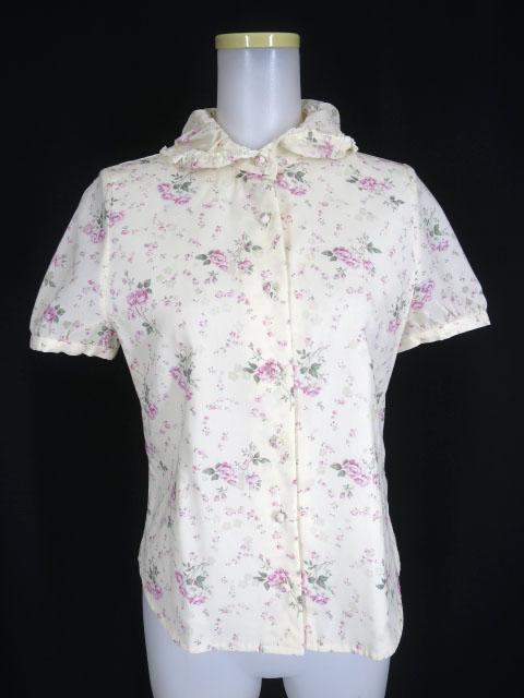 Jane Marple 花柄半袖ブラウス
