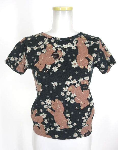 Jane Marple くまプリント半袖カットソー