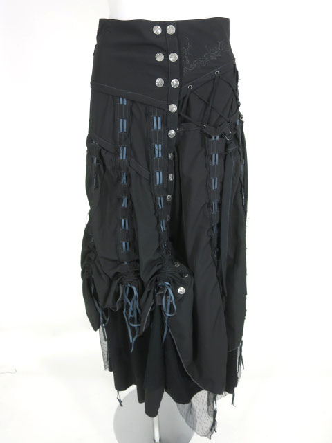 Ozz Croce フロントボタンロングスカート
