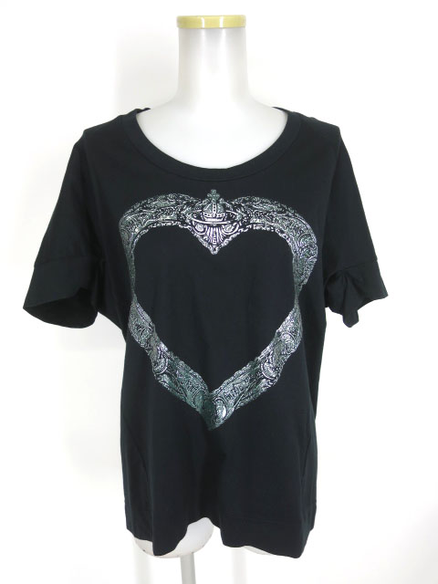 Vivienne Westwood RED LABEL 額縁ハートプリント ラウンドヘムTシャツ