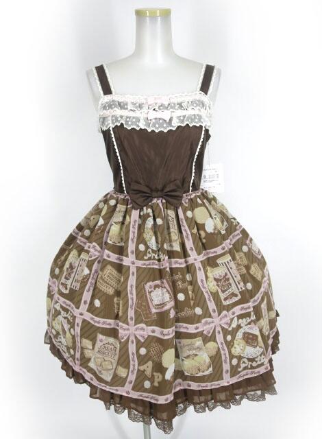 Angelic Pretty Cream Cookie Collection切替ジャンパースカート
