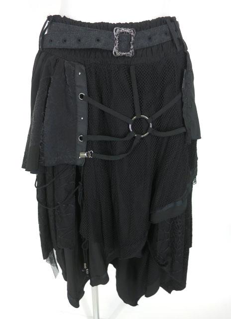 Ozz Croce メッシュ重ねイレギュラーヘムスカート