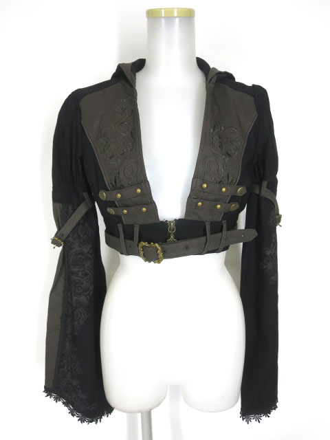 Rozen Kavalier フード付きフレア袖ショートジャケット