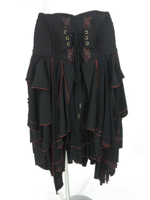 OZZ ONESTE チュール重ね2wayフリルロングスカート