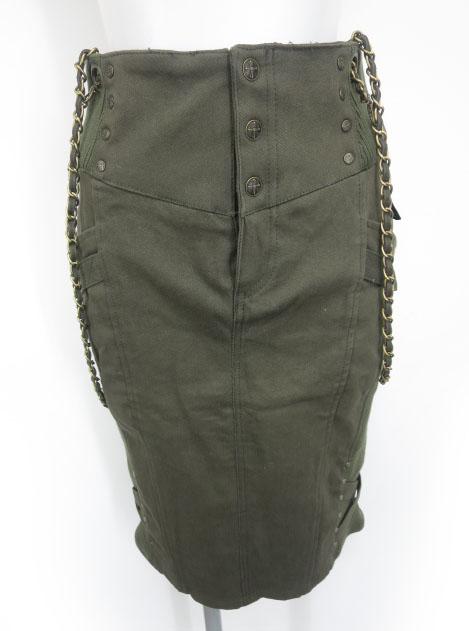 Ozz Croce サスペンダーチェーン付きスカート