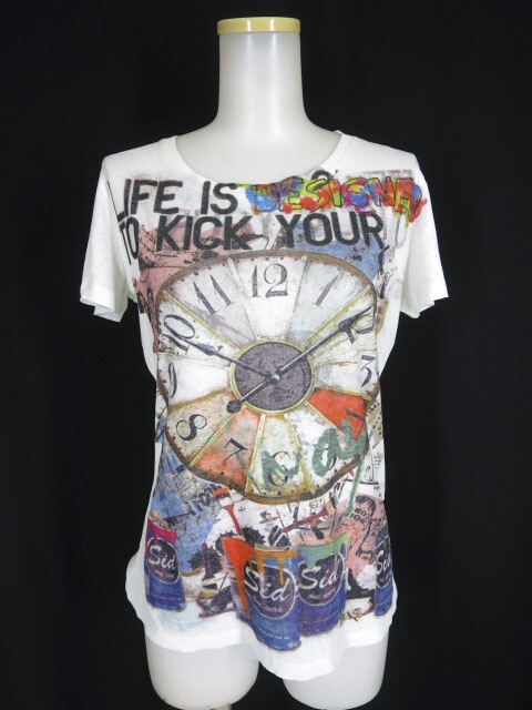 Ozz Croce 時計プリントTシャツ