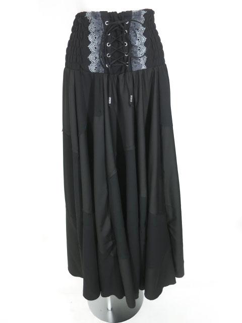 OZZ ANGELO 切替デザイン2wayロングスカート