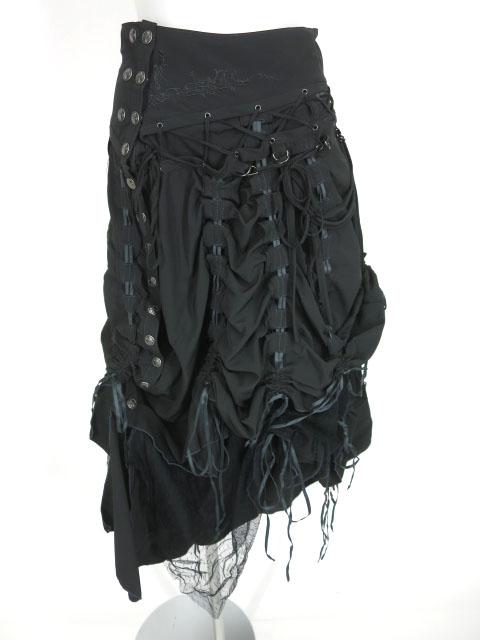 Ozz Croce 裾絞りアシンメトリーロングスカート