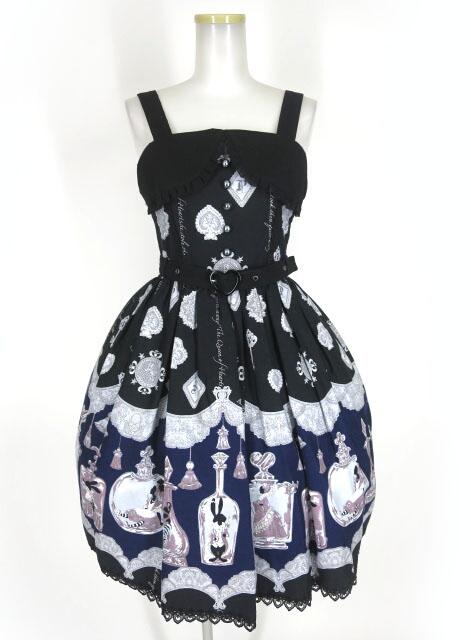 ALICE and the PIRATES アリスのティアボトル柄ハートベルトジャンパースカート