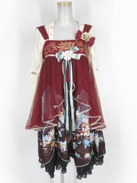 DOLL PARADISE (To Alice) 和チャイナ柄ジャンパースカート&シフォントップス セット