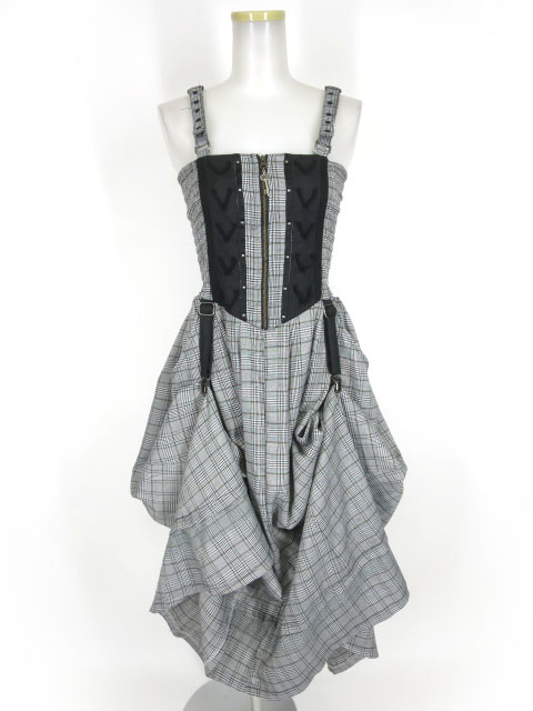 Rozen Kavalier グレンチェック柄ロングジャンパースカート