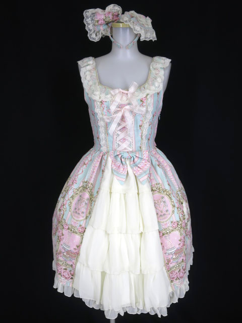 BABY, THE STARS SHINE BRIGHT Marie Antoinette~美しき王妃の華麗なる肖像~柄ジャンパースカートII&カチューシャ セット...