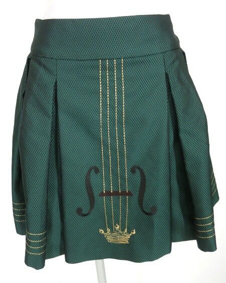 Jane Marple メモリードビーバイオリンエンブロイダリーのミニスカート