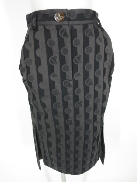 Vivienne Westwood RED LABEL ストライプ&オーブドット柄ジャガードスカート