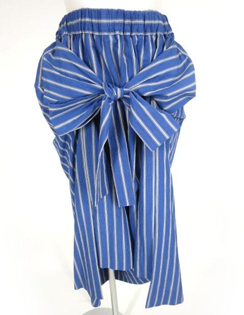 Vivienne Westwood RED LABEL ストライプ柄バックロングスカート