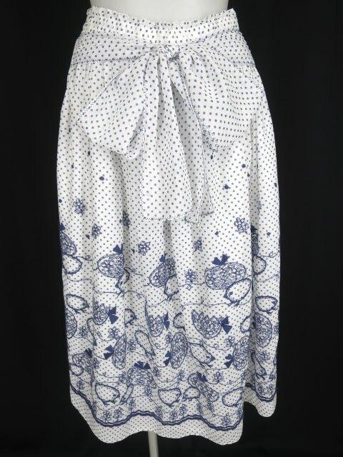 Jane Marple ひよこ刺繍ドット柄スカート