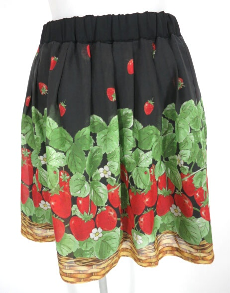 Emily Temple cute イチゴバスケットプリントスカート
