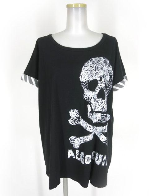 ALGONQUINS スカルプリントビッグTシャツ