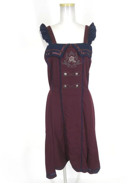 OZZ ONESTE ローズ刺繍ジャンパースカート