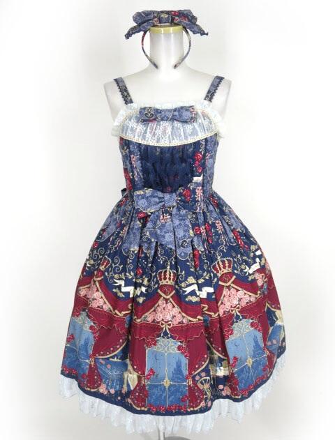 Angelic Pretty True Rose Story Special ジャンパースカート Set (JSK+カチューシャ)